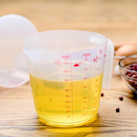 百钻塑料量杯带刻度500毫升 奶茶烘焙标准量杯家用小量杯烘培工具