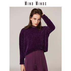 MINDMINDS 2018秋装新款针织衫女开衫 前短后长宽松休闲显瘦毛衣