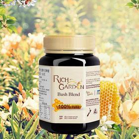 新西兰原装进口蜂蜜  Rich Garden野生灌木花蜂蜜500g 纯净天然