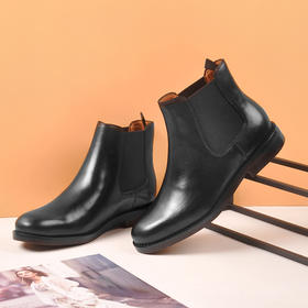 双十一钜惠!【为舒适而生】WAYNE FLEX 韦恩 爆款 切尔西短靴升级版 帅气一脚蹬 粗跟