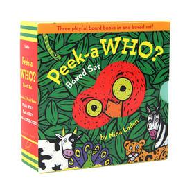 盖世童书●(3册)Peek-a-who Boxed Set尼娜·兰登经典洞洞书系列,连续畅销14年!狂销100万册!是躲猫猫界的小能手!