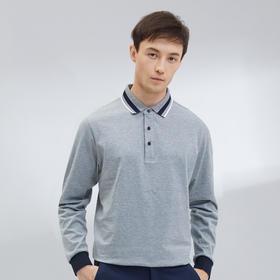 【都市轻商务系列】简约美式时尚撞色领POLO衫