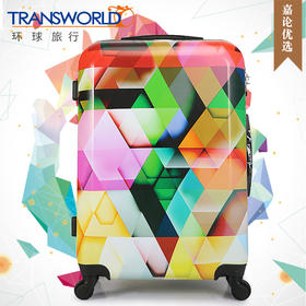 Transworld炫彩世界旅行箱拉杆箱24寸