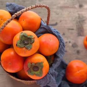 「甜蜜脆爽」出口日本的甜柿子 柿子香味 苹果口感  入口脆甜可口 咔嚓脆!