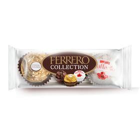 费列罗(Ferrero Rocher)费列罗臻品巧克力三色球糖果零食送女友婚庆喜糖3粒装 -812195