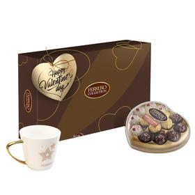 费列罗(Ferrero Rocher)费列罗臻品巧克力15粒三色球心型礼盒七夕送女友生日礼物-812194
