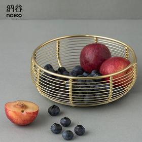 纳谷 | Domian 格物 手工编织镀金水果篮