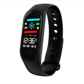 新款M3s运动手环防水彩屏蓝牙计步心率血压监测手表智能穿戴设备