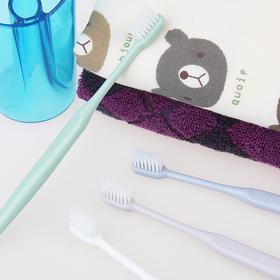 【刚柔并存 深度清洁】比0.03mm还小的刷毛瓷白丝圆筒牙刷 6支装 每一簇刷毛都雨露均沾