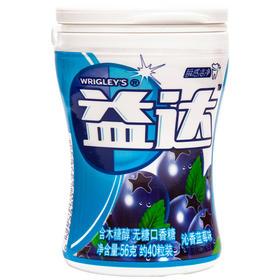 益达(Extra)木糖醇无糖口香糖沁香蓝莓40粒56g单瓶装-812241