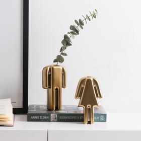 创意陶瓷客厅家居饰品装饰花瓶干花花插插花人偶摆件