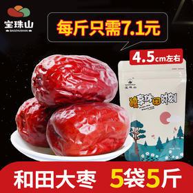 宝珠山  新疆红枣500g*5袋 新疆特产和田大枣5斤装 灰枣干果级枣子小枣