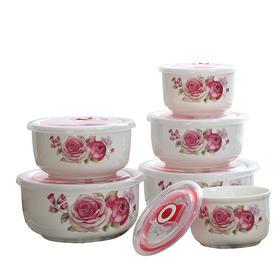【精选】六件套保鲜碗丨耐用好洗保鲜食物丨4/5/6英寸各两个【厨房用品】