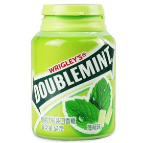 绿箭(DOUBLEMINT)口香糖原味薄荷味40粒64g单瓶装-812220
