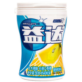 益达(Extra)木糖醇无糖口香糖清香蜜柚40粒56g单瓶装-812244