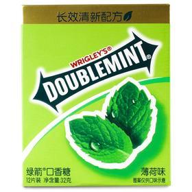 绿箭(DOUBLEMINT)口香糖原味薄荷味12片32g单盒装-812219