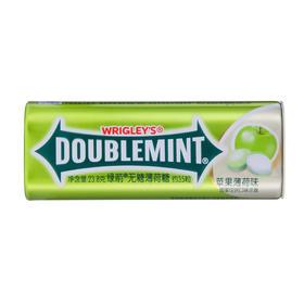 绿箭(DOUBLEMINT)无糖薄荷糖苹果薄荷味35粒23.8g单盒金属装-812226