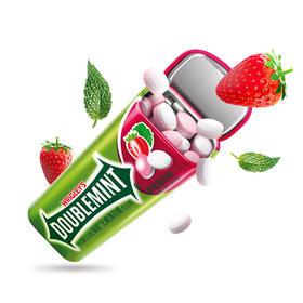 绿箭(DOUBLEMINT)无糖薄荷糖草莓薄荷味35粒23.8g单盒金属装-812222