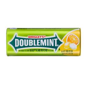 绿箭(DOUBLEMINT)无糖薄荷糖冰柠薄荷味35粒23.8g单盒金属装-812221
