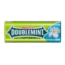 绿箭(DOUBLEMINT)无糖薄荷糖茉莉花茶味35粒23.8g单盒金属装-812225