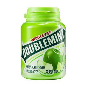 绿箭(DOUBLEMINT)无糖口香糖苹果薄荷味36粒50g单瓶装-812228