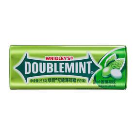 绿箭(DOUBLEMINT)无糖薄荷糖留兰香薄荷味35粒23.8g单盒金属装-812224