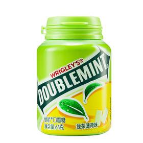 绿箭(DOUBLEMINT)口香糖绿茶薄荷味40粒64g单瓶装-812218