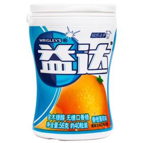 益达(Extra)木糖醇无糖口香糖香橙薄荷40粒56g单瓶装(新旧包装随机发)-812245