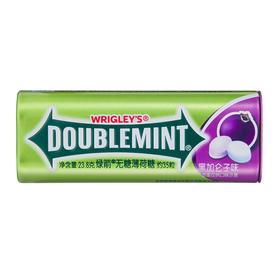 绿箭(DOUBLEMINT)无糖薄荷糖黑加仑子味35粒23.8g单盒金属装-812223