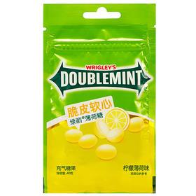 绿箭(DOUBLEMINT)脆皮软心薄荷糖柠檬薄荷味40g袋装-812217