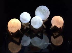 3D立体月球灯15cm 触控版