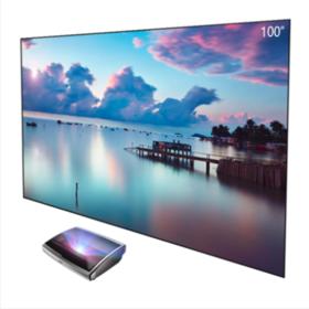 JmGo坚果激光电视专用100英寸菲涅尔三向抗光硬屏高清幕布