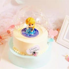 爱莎公主·灯光玻璃球儿童公主女王生日蛋糕