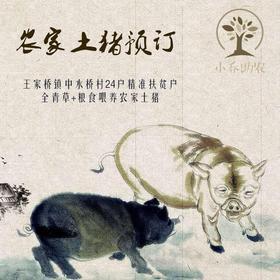 松滋农家年猪预订 精准扶贫户青草+米糠+苞谷喂养,只预售,年底接俩来杀年猪!