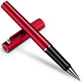得力S87红色贵族宝珠笔中性笔0.5mm 商务墨水笔礼盒装金属质感-812255