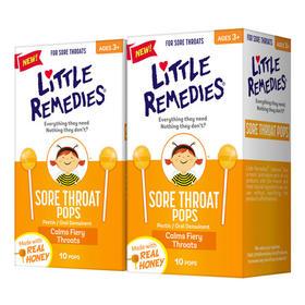 【限时秒杀】LITTLEREMEDIES天然蜂蜜棒棒糖10支*2盒 2020年2月
