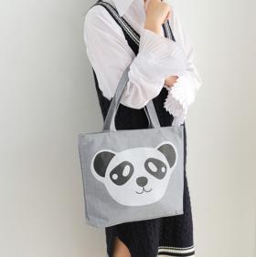 【49选5】时尚帆布手提包 特色精致印染工艺 严谨匠人手艺