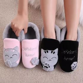 全包跟棉拖鞋女韩版情侣厚底冬季毛毛可爱家居室内月子棉鞋