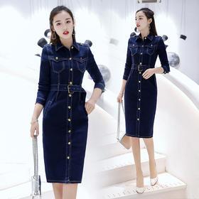 连衣裙时尚中长款韩版气质优雅修身潮流 CS-YLFS8335