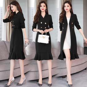 舒适简约气质个性休闲修身显瘦时尚都市潮流风衣 CQ-SHNR8886