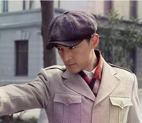 英伦风硬汉斯坦森同款贝雷帽条纹鸭舌帽 复古八角帽硬汉男帽批发