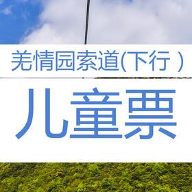 九皇山羌情园索道(下行)儿童票
