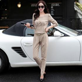 纯色裹胸长裤时尚修身显瘦两件套 CS-SYG6111