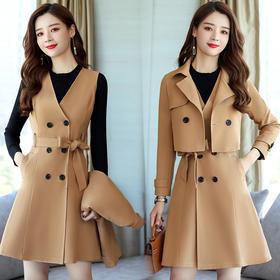 时尚收腰气质套装舒适修身显瘦潮流马甲纯色双排扣 CQ-XSLG2807