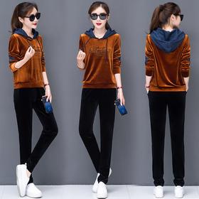 长袖卫衣韩版时尚休闲运动服两件套潮 CQ-XKZ106