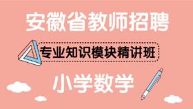 安徽省教师招聘专业知识模块精讲班——小学数学