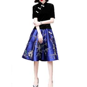 (超值捡漏款)OG99072原创设计民族风秋冬半身裙TZF