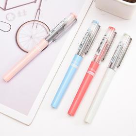 直液式中性笔0.38/0.5mm 彩色走珠笔可替换墨囊 水性笔小清新文具