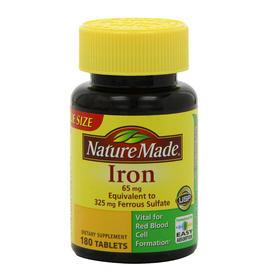 【香港直邮】美国Nature Made莱萃美 铁剂片 65mg 180片/瓶