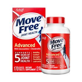 【美国直邮】美国Schiff旭福 Move Free氨基葡萄糖软骨素维骨力片 红瓶 200片1-2瓶
